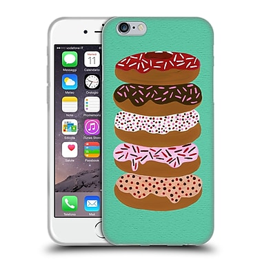 Official Cat Coquillette Sweets Stacked Donuts Mint Soft Gel Case For Apple Iphone 6 / 6S