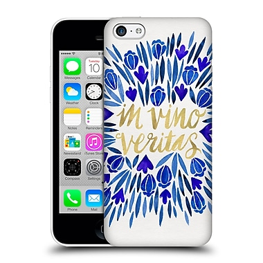 Official Cat Coquillette Quotes Typography 1 In Wine There Is Truth Navy Hard Back Case For Apple Iphone 5C