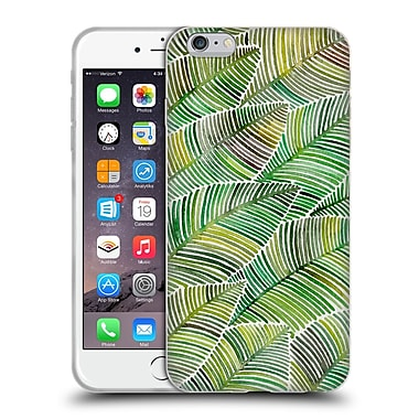 Official Cat Coquillette Patterns Greens Tropical Leaves Soft Gel Case For Apple Iphone 6 Plus / 6S Plus