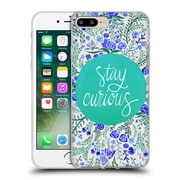 Official Cat Coquillette Quotes Typography 4 Stay Curious Turquoise Soft Gel Case For Apple Iphone 7 Plus