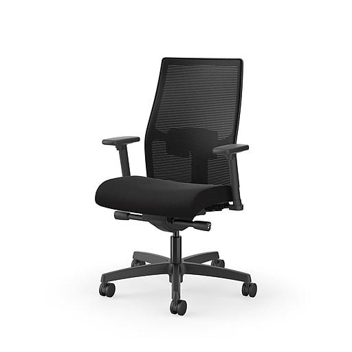 Hon Ignition 2 0 Mesh Fabric Computer And Desk Chair Black Honi2m2amlc10tk At Staples