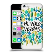 Official Cat Coquillette Quotes Typography 1 In Wine There Is Truth Yellow Hard Back Case For Apple Iphone 5C