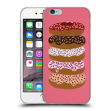 Official Cat Coquillette Sweets Stacked Donuts Pink Soft Gel Case For Apple Iphone 6 / 6S