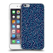 Official Cat Coquillette Patterns Berry Branches Navy Turquoise Soft Gel Case For Apple Iphone 6 Plus / 6S Plus