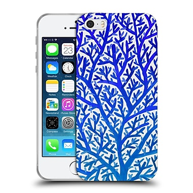 Official Cat Coquillette Patterns Blue Ombre Fan Coral Soft Gel Case For Apple Iphone 5 / 5S / Se