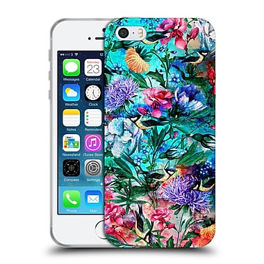 Official Riza Peker Flowers 2 Floral And Birds Iv Soft Gel Case For Apple Iphone 5 / 5S / Se