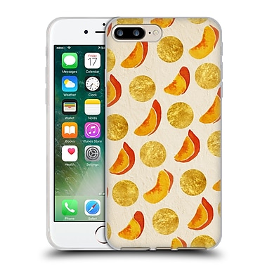 Official Cat Coquillette Fruits & Veggies Gold Peaches Soft Gel Case For Apple Iphone 7 Plus