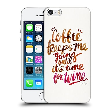 Official Cat Coquillette Quotes Typography 3 Coffee & Wine Brown Hard Back Case For Apple Iphone 5 / 5S / Se