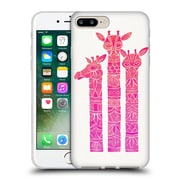 Official Cat Coquillette Animals Pink Ombre Girrafes Soft Gel Case For Apple Iphone 7 Plus