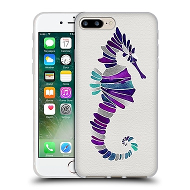 Official Cat Coquillette Sea Seahorse Purple Soft Gel Case For Apple Iphone 7 Plus