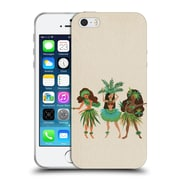 Official Cat Coquillette Watercolour Illustrations Luau Girls Beige Soft Gel Case For Apple Iphone 5 / 5S / Se