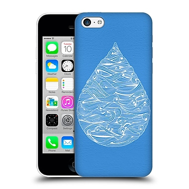 Official Cat Coquillette Watercolour Illustrations 2 Blue Water Drop Hard Back Case For Apple Iphone 5C