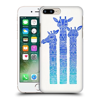 Official Cat Coquillette Animals Blue Ombre Girrafes Hard Back Case For Apple Iphone 7 Plus