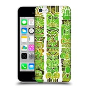 Official Cat Coquillette Watercolour Illustrations 2 Green Tiki Totems Hard Back Case For Apple Iphone 5C