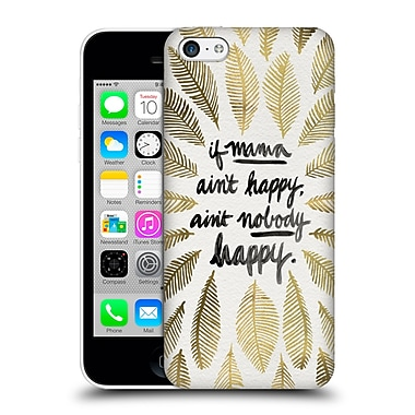 Official Cat Coquillette Quotes Typography 1 If Mama Ain'T Happy Gold Hard Back Case For Apple Iphone 5C