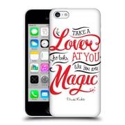 Official Frida Kahlo Typography Lover White Hard Back Case For Apple Iphone 5C
