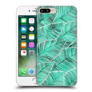 Official Cat Coquillette Patterns Turquoise Tropical Leaves Hard Back Case For Apple Iphone 7 Plus