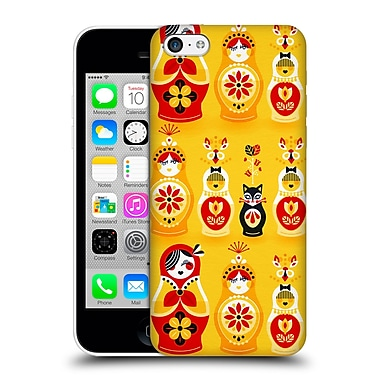 Official Cat Coquillette Watercolour Illustrations Russian Nesting Dolls Yellow Hard Back Case For Apple Iphone 5C