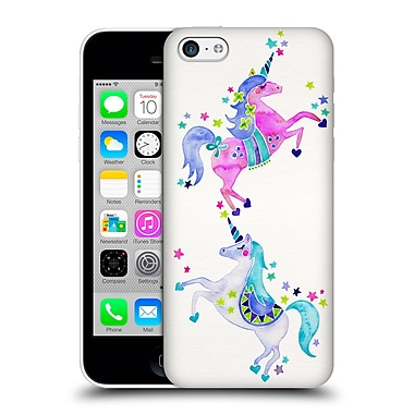 Official Cat Coquillette Watercolour Illustrations Unicorns Pastel Hard Back Case For Apple Iphone 5C