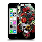 Official Riza Peker Skulls 4 Flowers Hard Back Case For Apple Iphone 5C