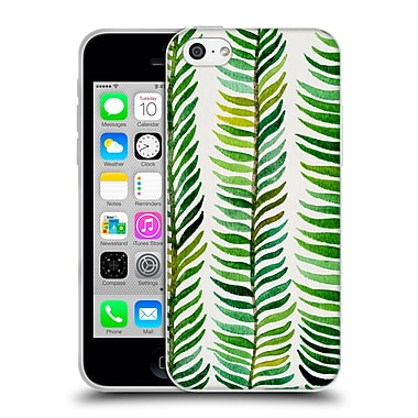 Official Cat Coquillette Patterns Green Stems Soft Gel Case For Apple Iphone 5C