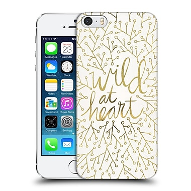 Official Cat Coquillette Quotes Typography 3 Wild At Heart Gold Hard Back Case For Apple Iphone 5 / 5S / Se
