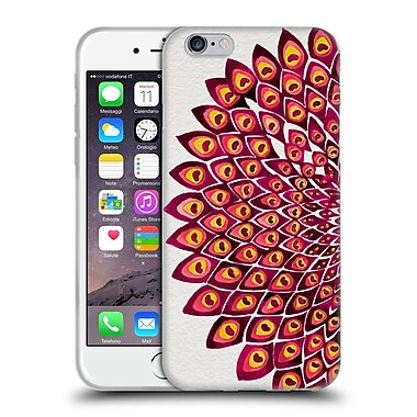 Official Cat Coquillette Mandala Peacock Pink Soft Gel Case For Apple Iphone 6 / 6S