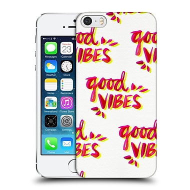 Official Cat Coquillette Quotes Typography 4 Good Vibes Yellow Pink Hard Back Case For Apple Iphone 5 / 5S / Se