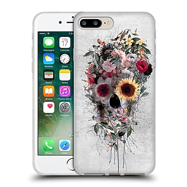 Official Riza Peker Skulls 4 Floral Soft Gel Case For Apple Iphone 7 Plus