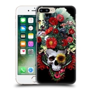 Official Riza Peker Skulls 4 Flowers Hard Back Case For Apple Iphone 7 Plus