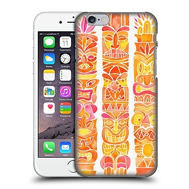 Official Cat Coquillette Watercolour Illustrations 2 Orange Tiki Totems Hard Back Case For Apple Iphone 6 / 6S