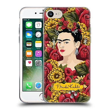 Official Frida Kahlo Red Florals Portrait Pattern Soft Gel Case For Apple Iphone 7