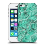 Official Cat Coquillette Patterns Turquoise Tropical Leaves Soft Gel Case For Apple Iphone 5 / 5S / Se