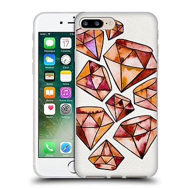 Official Cat Coquillette Watercoloured Gems Orange Tattoo Diamonds Soft Gel Case For Apple Iphone 7 Plus