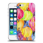 Official Cat Coquillette Patterns Rainbow Lanterns Soft Gel Case For Apple Iphone 5 / 5S / Se