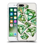 Official Cat Coquillette Watercoloured Gems Emerald Tattoos Soft Gel Case For Apple Iphone 7 Plus