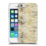 Official Cat Coquillette Patterns 2 Gold Waves Soft Gel Case For Apple Iphone 5 / 5S / Se