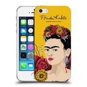Official Frida Kahlo Red Florals Portrait Soft Gel Case For Apple Iphone 5 / 5S / Se