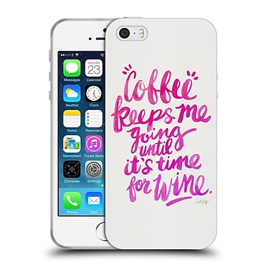 Official Cat Coquillette Quotes Typography 3 Coffee & Wine Pink Soft Gel Case For Apple Iphone 5 / 5S / Se