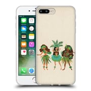 Official Cat Coquillette Watercolour Illustrations Luau Girls Beige Soft Gel Case For Apple Iphone 7 Plus