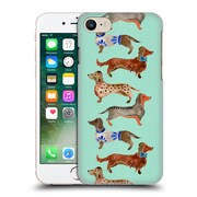Official Cat Coquillette Animals Blue Dachshunds Hard Back Case For Apple Iphone 7