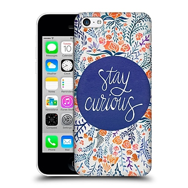 Official Cat Coquillette Quotes Typography 4 Stay Curious Navy Hard Back Case For Apple Iphone 5C
