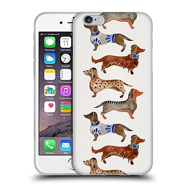 Official Cat Coquillette Animals Dachshunds Soft Gel Case For Apple Iphone 6 / 6S