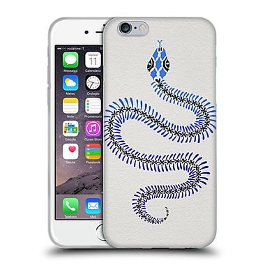 Official Cat Coquillette Animals Blue Ombre Snake Skeleton Soft Gel Case For Apple Iphone 6 / 6S