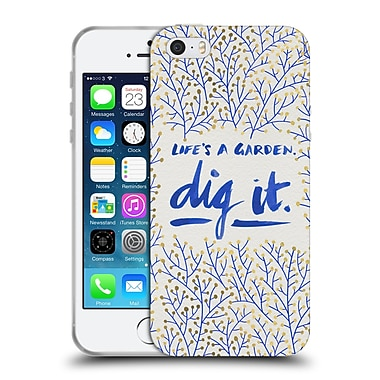 Official Cat Coquillette Quotes Typography 2 Dig It Navy Soft Gel Case For Apple Iphone 5 / 5S / Se
