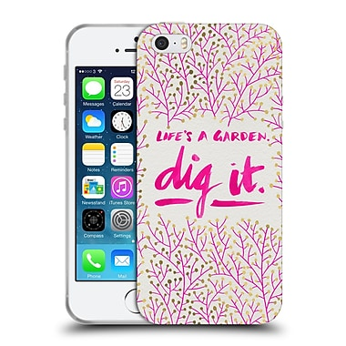 Official Cat Coquillette Quotes Typography 2 Dig It Pink Soft Gel Case For Apple Iphone 5 / 5S / Se