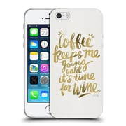 Official Cat Coquillette Quotes Typography 3 Coffee & Wine Gold Soft Gel Case For Apple Iphone 5 / 5S / Se
