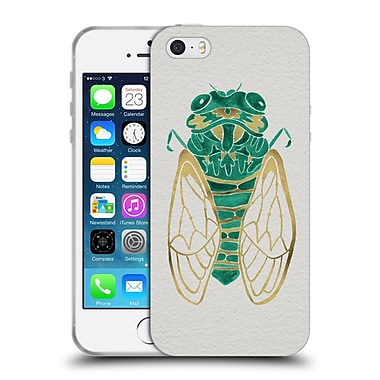 Official Cat Coquillette Insects Cicada Gold Green Soft Gel Case For Apple Iphone 5 / 5S / Se