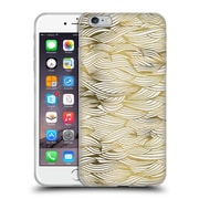 Official Cat Coquillette Patterns 2 Gold Waves Soft Gel Case For Apple Iphone 6 Plus / 6S Plus