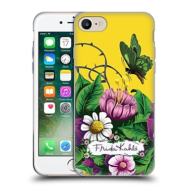 Official Frida Kahlo Purple Florals Butterfly Soft Gel Case For Apple Iphone 7